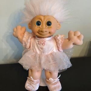 "12"" Russ Troll Ballerina Troll Doll with Stand"